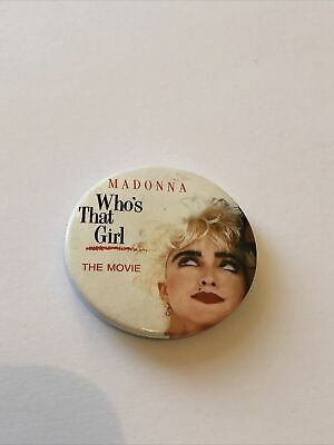 Madonna - Who's That Girl - The Movie - Pop Star Badge • 2.50£
