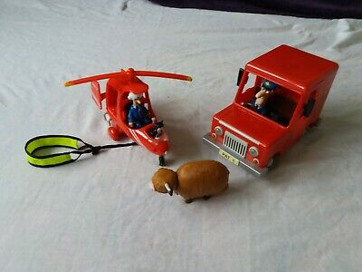 Postman Pat Large Car And Helicopter • 20£