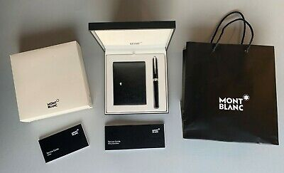Montblanc Luxury Gift Set: Pix Rollerball Pen And Meisterstück Leather Wallet • 150£