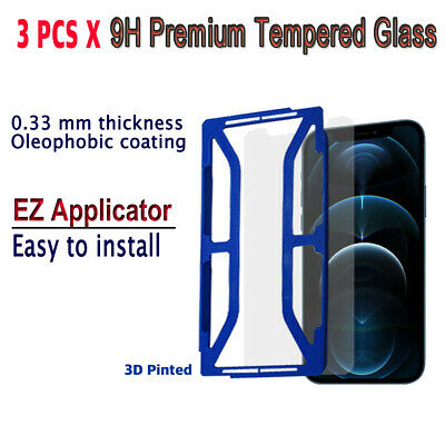AU10.23 • Buy 3pcs X Tempered Glass Screen Protector With EZ Applicator For IPhone 12 Pro