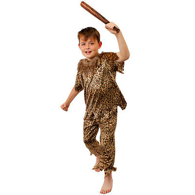 Children's Cave Dweller Costume For Cave Girl / Cave Boy Costume And Prehistoric • 12.99£