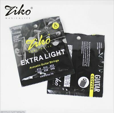 $ CDN6.99 • Buy ZIKO Extra Light Bronze Copper Wound Acoustic Guitar Strings Bright Rich Tone