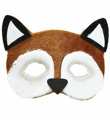 Widmann Plush Animal Fox Eye Mask Masked Masquerade Ball Photo Booth Halloween • 8.98£
