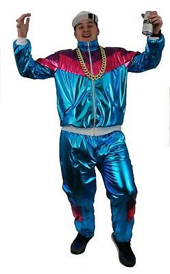 Adult 80s Shell Suit Costume 1980s Mens Fancy Dress Costume For 80s Themed Parti • 22.98£