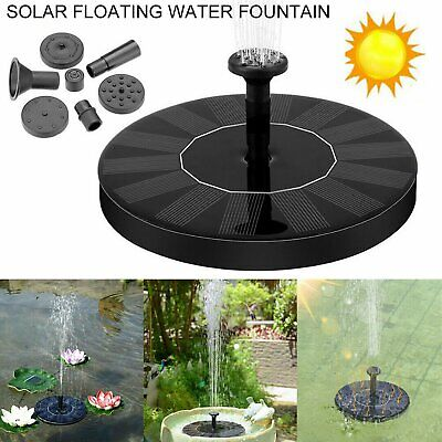 180L/H Solar Garden Pond Pool Submersible Floating Fountain Water Pump Battery • 4.99£