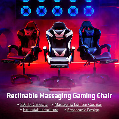 £80.99 • Buy Crenex Racing Gaming Massage Chair Reclining Office Desk Computer With Footrest