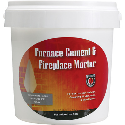 Meeco's Red Devil 1/2 Gal. Gray Furnace Cement & Fireplace Mortar 1355  - 1 Each • 9.13£