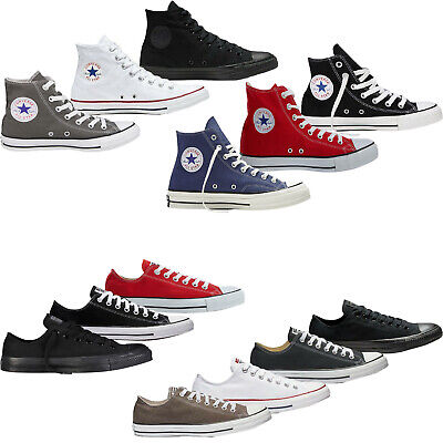 Converse Trainers Mens Womens High Low Tops Chuck Taylor All Star Canvas Shoes • 30.98£