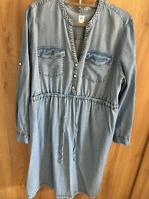 Gap Maternity Dress Denim Effect Size Xl • 9.99£