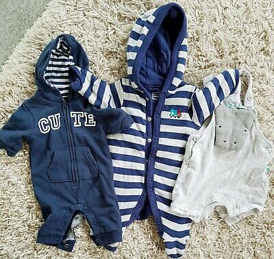 Cute Baby Boys Small Clothes Bundle Up To 1 Month Next, F&F & Blue Zoo. • 1£