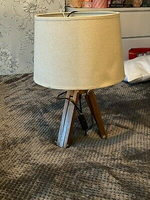 2 Wooden Tripod Lamps - Used • 10£