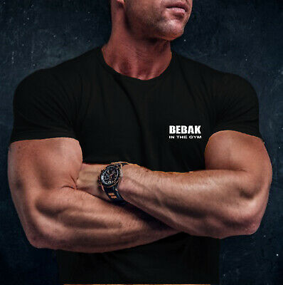 Mens Gym T-Shirt | BEBAK  Bodybuilding Top | Gym Clothes Gym Vest Strongman MMA • 11.99£