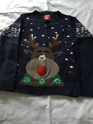 Boys Rudolph Christmas Jumper 164cm 14 Years TU • 1.50£