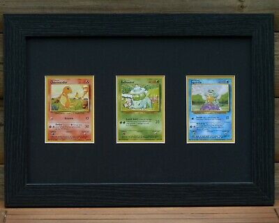 Trading Card Frame 3 Cards Pokemon/Magic The Gathering/Sports Custom Available • 19.50£