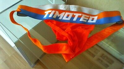 Mens Timoteo Orange Jock Strap Size Small. • 9.90£