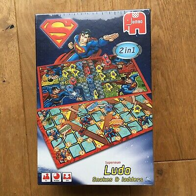 Superman Ludo Snakes + Ladders 2 In 1  Board Game By Jumbo NEW + SEALED • 7.50£
