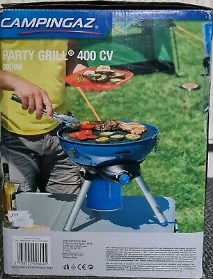 CAMPINGAZ PARTY GRILL 400 CV GAS CAMPING STOVE Griddle Bbq Portable Picnic  • 85£
