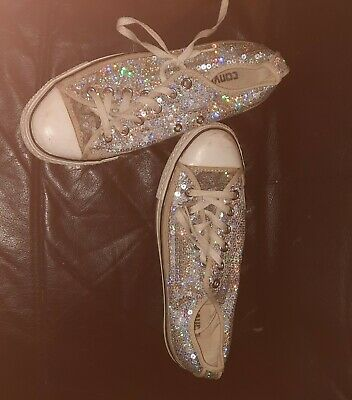 Womens Converse Size 7 Sequins • 7£
