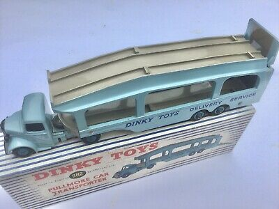 DINKY TOYS No 982 PULLMORE CAR TRANSPORTER IN VIRTUAL MINT CONDITION BOXED RARE • 50£