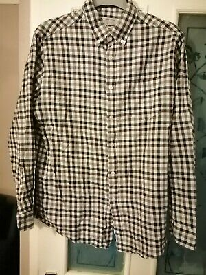 Mens Lincoln Multi Check Shirt Large 100% Cotton Brand New Bnwot Wedding Party • 6£
