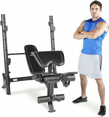 Marcy MD 867 Diamond Elite Olympic Bench - With 7ft Compatible Bar Bell • 100£
