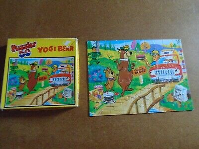 Hestair Puzzles - Yogi Bear 50 Large Pieces Complete Hanna Barbera Dated 1977 • 3.50£
