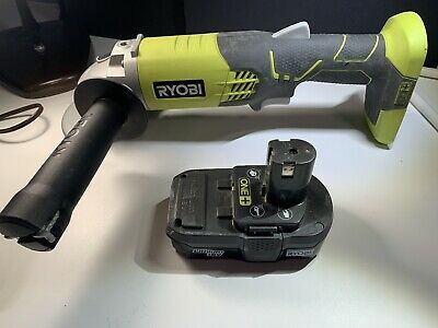 RYOBI 18-Volt ONE+ Cordless 4-1/2 In. Angle Grinder W/18v Battery Tested Working • 53.95£