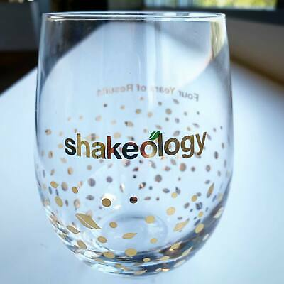 Shakeology Stemless Glass 4 Years Of 365ers Limited Edition NEW • 20.26£