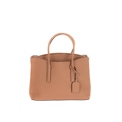 $ CDN69.19 • Buy RRP€320 KATE SPADE NEW YORK Leather Tote Bag Grainy Logo Charm Structured Design
