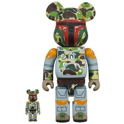 $569 • Buy Medicom BE@RBRICK BAPE BOBA FETT 100 400 Bearbrick Japan Limited Star Wars NEW