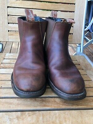 AU50 • Buy RM WILLIAMS Craftsman Brown Leather Boots Mens Size 8.5 H Made In Australia