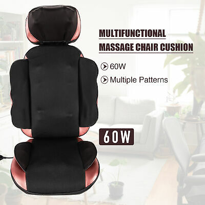 Electric Massage Chair Pad W 20 Nodes Heat & Vibration Functions For Back & More • 84.59£