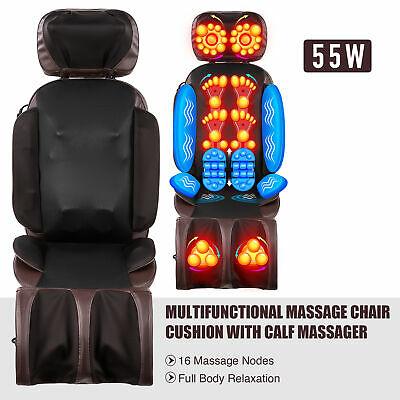 Kneading Massager W 16 Nodes Massage Chair Pad For Neck, Shoulder, Back & More • 100.92£