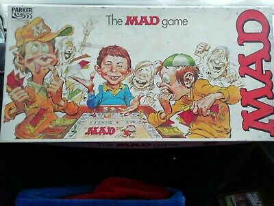 Vintage Retro Board Game The Mad Magazine Game 1970s Parker Brothers • 16£