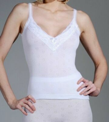 £7.99 • Buy 1 X Pack Ladies Snowdrop Underwear Thermal Camisole Vest With Lace V Neck