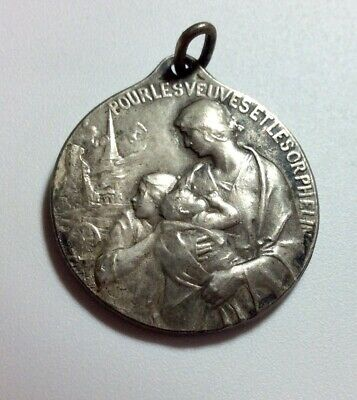 Rare WW1 French City Of Dijon Widows And Orphans Medal 1914-1915 • 10£