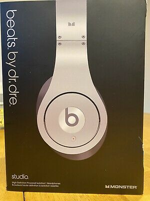 BEATS By Dr. Dre MONSTER Silver Studio On-Ear Headphones. NO RESERVE • 7.50£