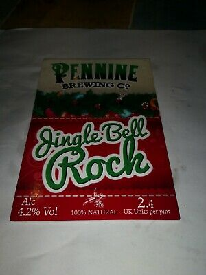 *Christmas Themed *Beer Pump Clip Pennine Brewery  Badge (no Clip )  • 1£