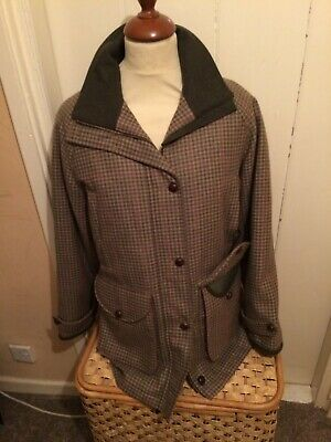 Ladies Laksen Clifton Tweed Shooting Coat Size 38 Was £400 Now £200 • 200£