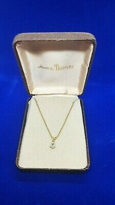 £23 • Buy Vintage Jewels By Trifari Goldtone Chain With Crystal Pendant Delicate Boxed