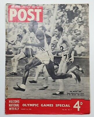 Picture Post Magazine 1948 Wembley Olympic Games Special August 14 1948 • 5£