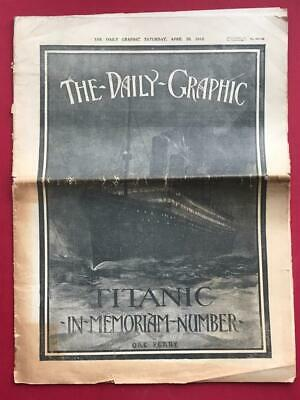 THE DAILY GRAPHIC TITANIC IN MEMORIAM NUMBER APRIL 20th 1912 - WHITE STAR LINE. • 36£