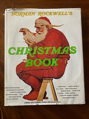 $ CDN20.35 • Buy Vintage Norman Rockwell's Christmas Book 1977 Holiday Poems Stories And Carols