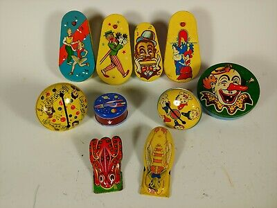 $ CDN25.94 • Buy 10 Vintage Tin Toy Noise Makers Life Of The Party 1950's Kirchhof Jean Metal Toy