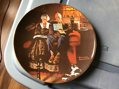 $ CDN19.45 • Buy Knowles China Plate Norman Rockwell Evenings Ease
