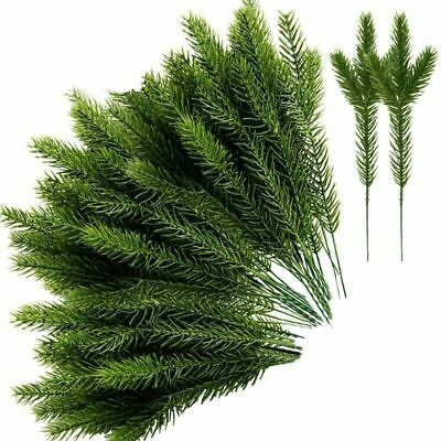 30Pcs Pine Needle Plant Branch Artificial Plastic XMAS Christmas Tree Home Decor • 12.87£