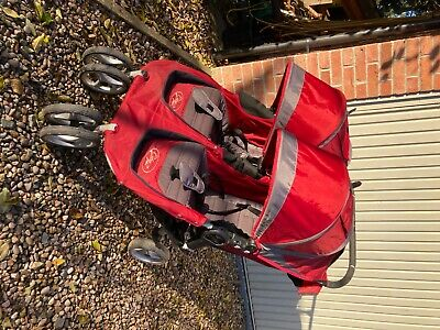Baby Jogger City Mini Double Pushchair - Red With Rain Cover. • 21.50£