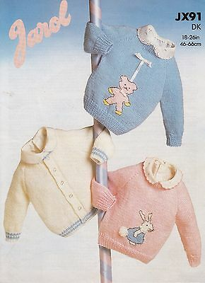 Jarol Dk Boys/girls Cardigan, Teddy & Rabbit Sweaters Knitting Pattern 18-26  • 2.50£