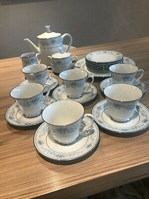 Vintage Fine Bone China Tea Set,Noritake,blue Hill , Gift From Prime Minister • 125£