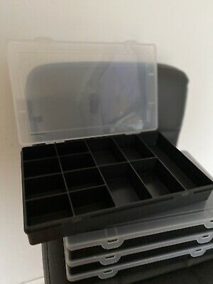 Clear Plastic Storage Organiser Compartment Craft Beads Jewellery Tool Box Case • 3.99£